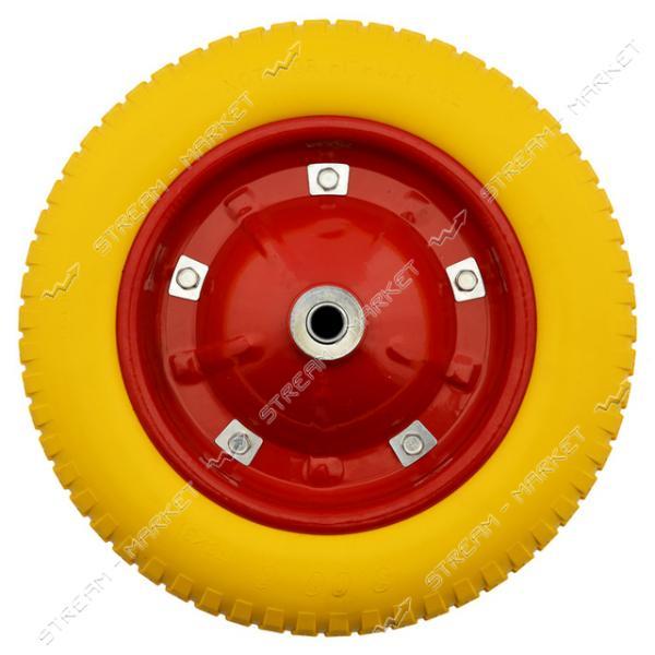Колеcо на тачку 3.0-8 пена (ширина резины 3, 0 дюйма, диск d9 внутр. d16)