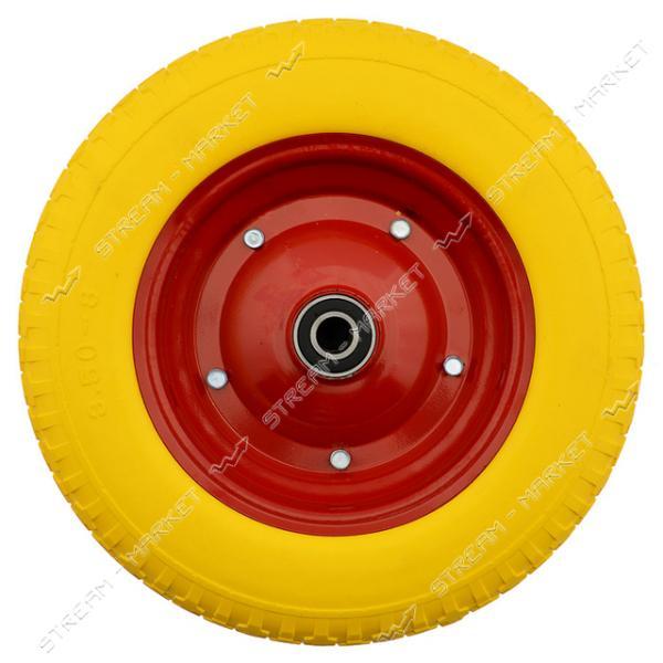 Колеcо на тачку 3.50-8 пена (ширина резины 3, 5 дюйма, диск d9 внутр. d20)