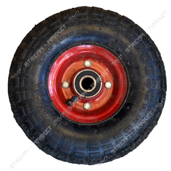 Колеcо на тачку 3.5-4 (ширина резины 3, 5 дюйма, диска 4 внутр. d20)