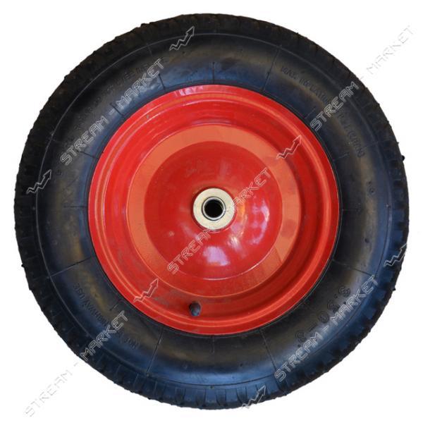 Колеcо на тачку 3.5-8 (ширина резины 3, 5 дюйма, диска 8 внутр. d16)