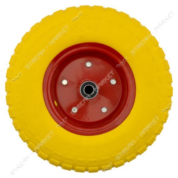 Колеcо на тачку 4.0-6 пена (ширина резины 3.0 дюйма, диск d7 внутр. d16)