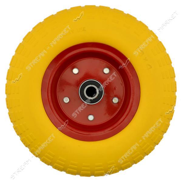 Колеcо на тачку 4.0-6 пена (ширина резины 3.0 дюйма, диск d7 внутр. d20)