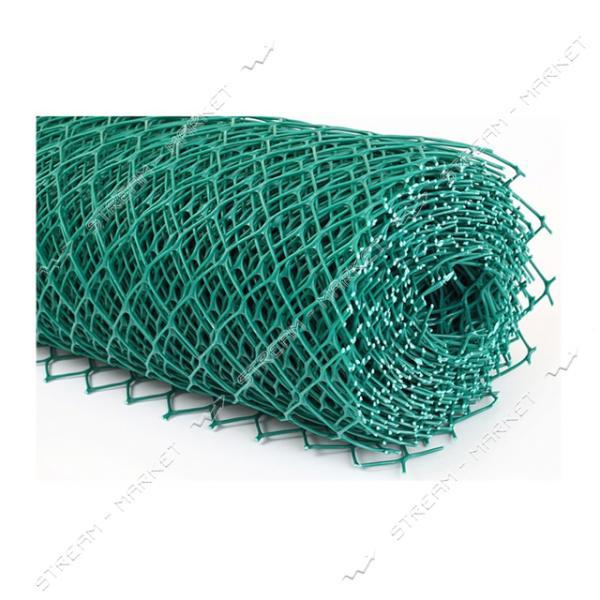 Сетка пластиковая Ромб ячейка 30х30мм 1.5х20м темно-зеленая