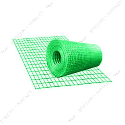 Сетка сварная с полимерным покрытием ячейка 13мм d0.66мм 1х30м