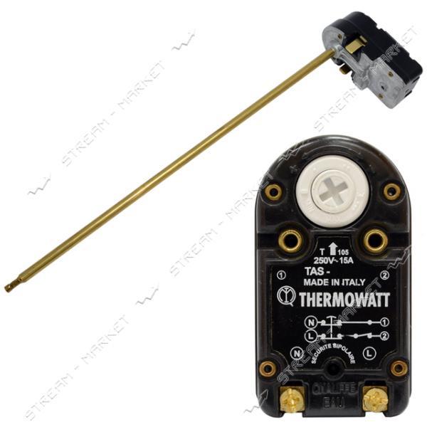 TW TAS 15A - Термостат 15A, c тепловой защитой(83С), max темпер-ра рег-ки 70С, L-300 мм