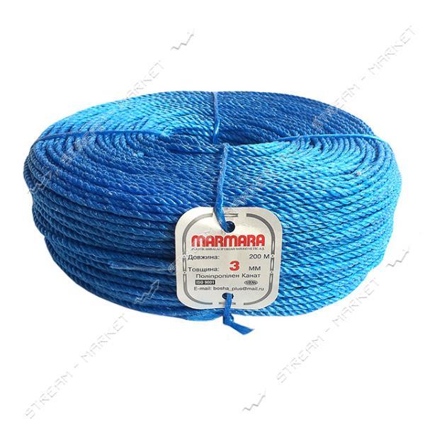 Веревка Мармара d3.0мм 200м цветная