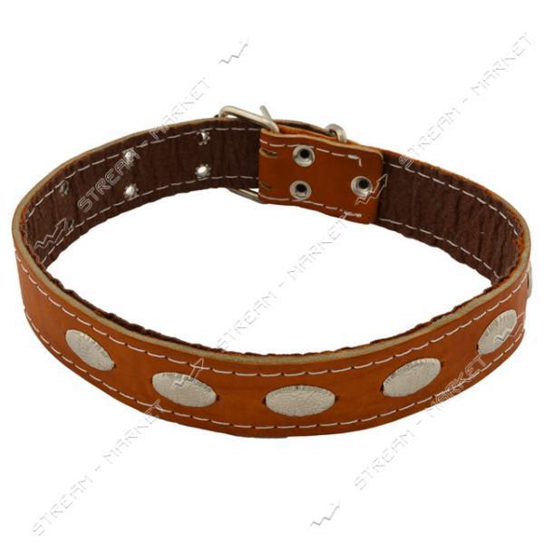 Ошейник для собак кожаный 4х72см