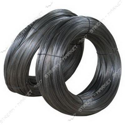 Проволока вязальная черная d0.8мм 100м