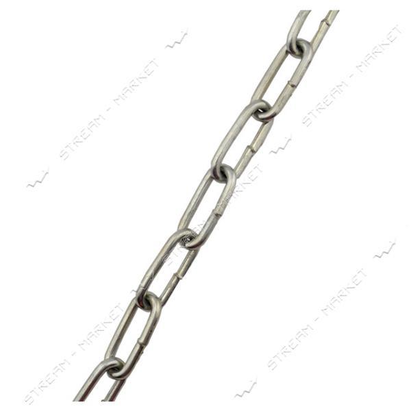 Цепь D2 (оцинкованная) длинное звено d4мм 5м