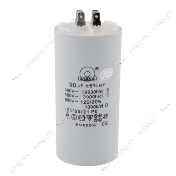 Пусковой конденсатор СВВ-60 90 мкФ напр.450 V без болта