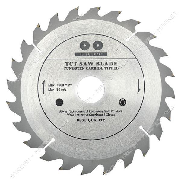 INTER-CRAFT Диск для пилы циркулярной по дереву 180*32 мм 60 зубов с твердосплавными напайками