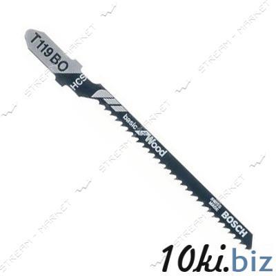 Пилки для эл-лобзика Bosh T119BO для твердой и мягкой дер.фанере, ДСП, пластике, оргстекле (цена за 5 ш Пилки для лобзиков на Электронном рынке Украины