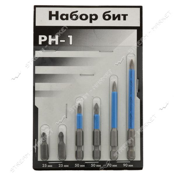 Набор бит на блистере РН-1 *25 мм (2 шт), РН-1*50 мм (2 шт), РН-1*70 мм 1 шт), РН-1*90 мм (1 шт)