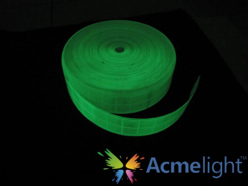 Фото  Лента светоотражающая фотолюминесцентная, рулон 50 м (от 5 рулонов)