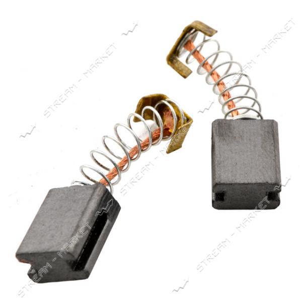 Угольные щетки ЩЭ 5х8х10 пружинные, контакт квадрат П-образный, две направляющие. (№57)