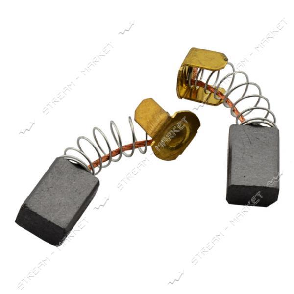 Угольные щетки ЩЭ 5х8х12 пружинные, контакт пятак П-образный (№11)