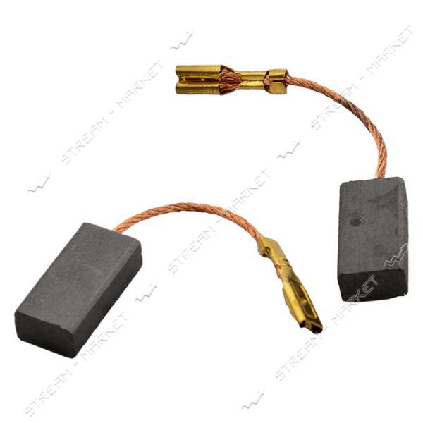 Угольные щетки ЩЭ 5х8х16 без пружины, контакт наконечник-коннектор 'мама' (№58)