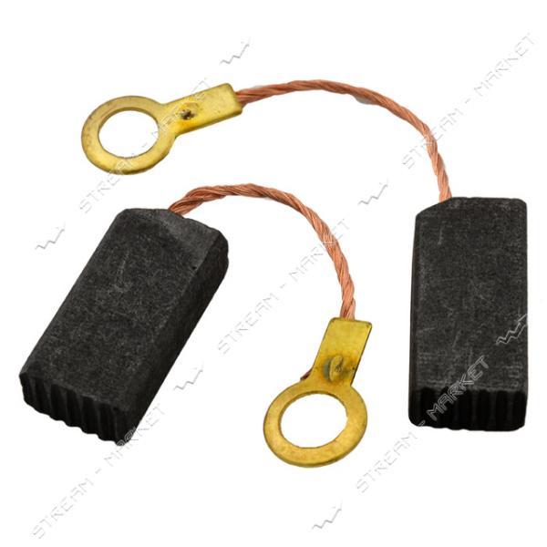 Угольные щетки ЩЭ 5х8х16 без пружины, контакт поводок-флажок, угловые (№23)