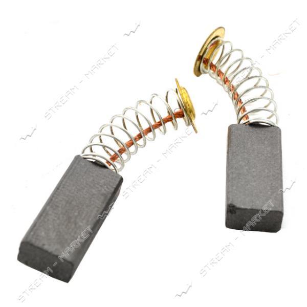 Угольные щетки ЩЭ 5х8х16 пружинные, контакт пятак (№6)