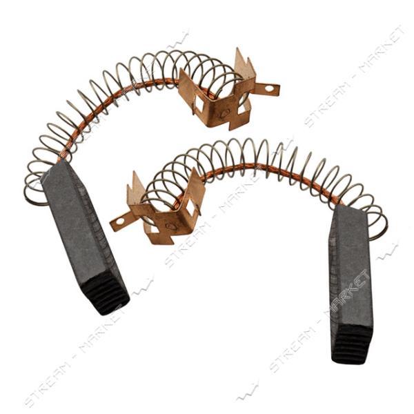 Угольные щетки ЩЭ 6, 3х10х31 пружинные, контакт П-образный, с ушками (№80)
