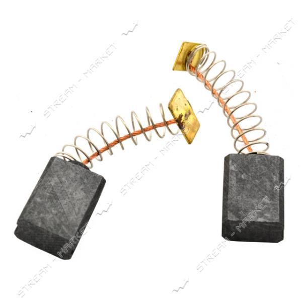 Угольные щетки ЩЭ 6, 5х11х14 пружинные, контакт квадрат, две направляющие. (№49)