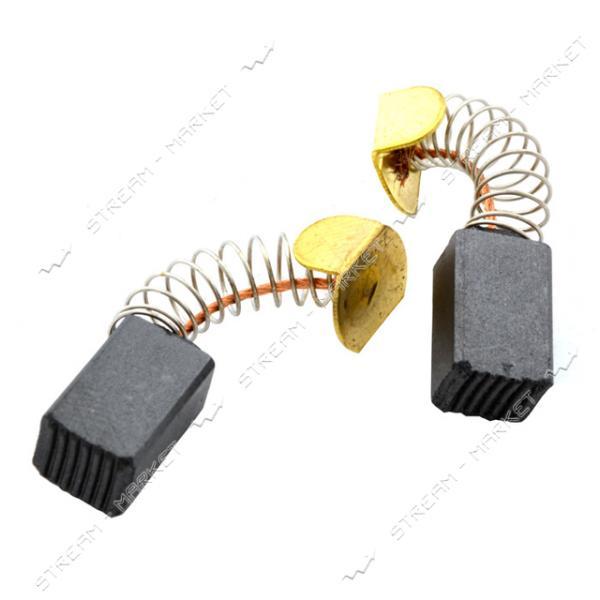 Угольные щетки ЩЭ 6, 5х7, 5х13 пружинные, контакт пятак Г-образный, с ушком (№46)