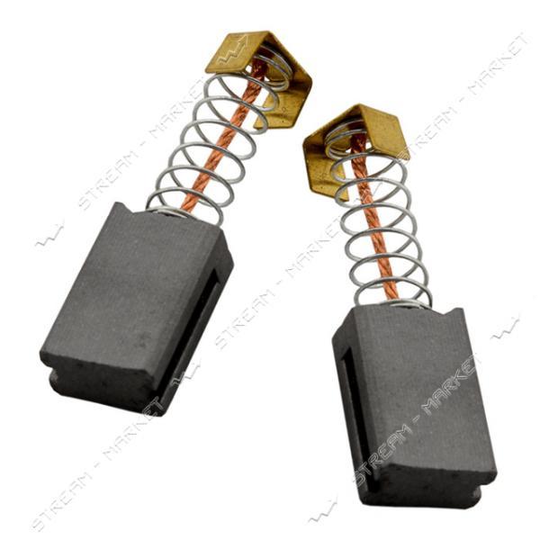 Угольные щетки ЩЭ 6х10х15 пружинные, контакт квадрат П-образный, две направляющих (№92)
