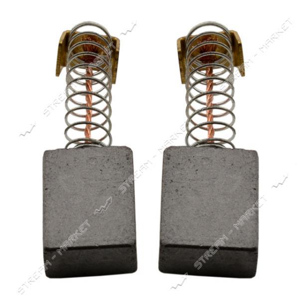 Угольные щетки ЩЭ 6х11х14 пружинные, контакт квадр. П-образный (№R1121)