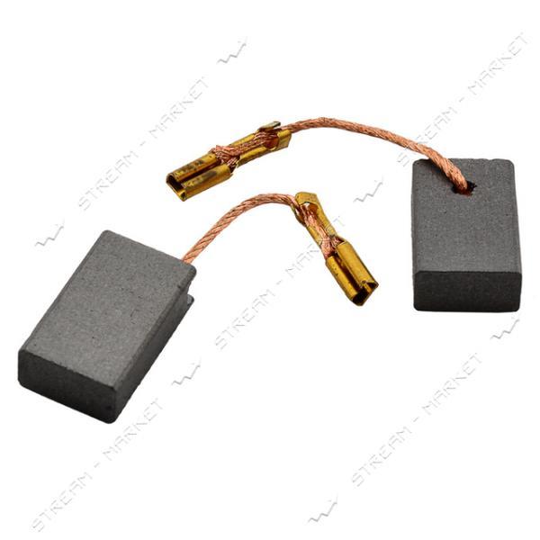 Угольные щетки ЩЭ 6х11х17 без пружины, контакт наконечник-коннектор 'мама', боковой выход (№48)