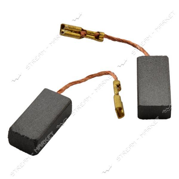 Угольные щетки ЩЭ 6х9х18 без пружины, контакт наконечник-коннектор 'мама' (№58**)