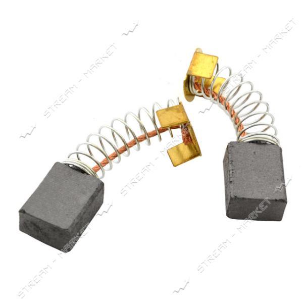 Угольные щетки ЩЭ 8х12х15 пружинные, контакт пятак П-образный (№14**)