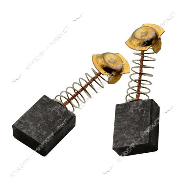 Угольные щетки ЩЭ 8х14, 4х17 пружинные, контакт пятак П-образный (№R1116)