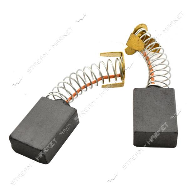 Угольные щетки ЩЭ 8х14, 5х20 пружинные, контакт пятак П-образный (№16)