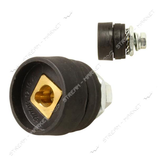Гнездо аппаратное на сварку (Байонет 'Мама') 10-25 мм (EZ-0001)