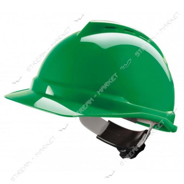 Каска строительная Украина, зеленая (PK-0004)