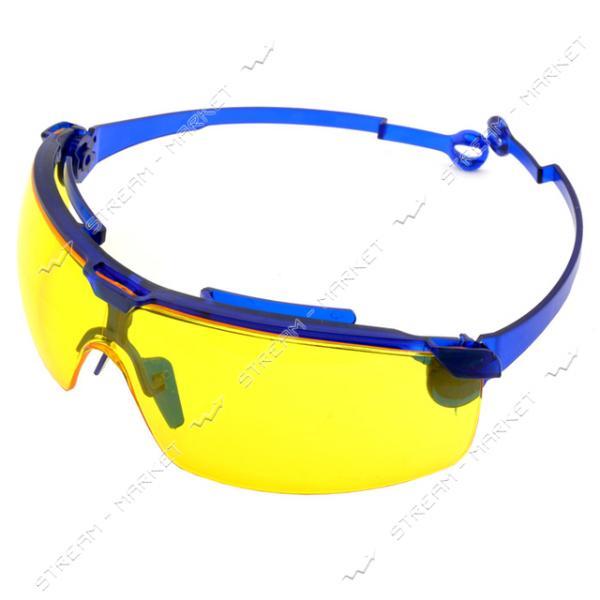 Очки защитные желтые поворотные удлинненые дужки,