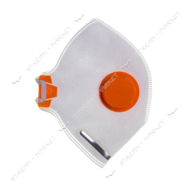 Респиратор Спектр, с клапаном, оранжевый DR-0005 (код-2ПК)