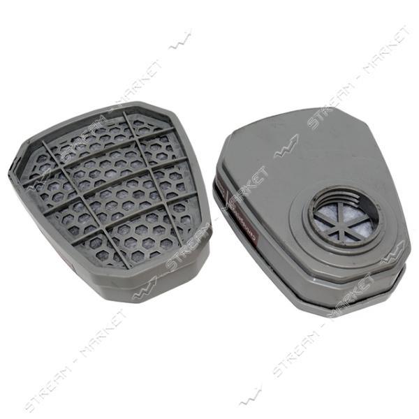 Фильтр-Банка DR-0022 трапеция (для респиратора 3-М с двумя фильтрами) (цена за 1шт, только от уп.)