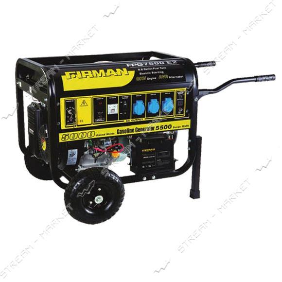 FIRMAN FPG7800E2 бензиновый генератор 5000 Вт, ручной стартер, бак 25 л, Вес 106 кг 647, 58