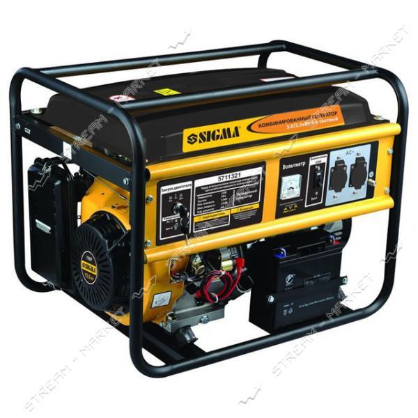 Комбинированный генератор Sigma 5711321 5.0-5.5 кВт
