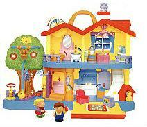 Фото Игрушки под заказ 1-3 дня Игровой набор - ЗАГОРОДНЫЙ ДОМ (свет, звук) от Kiddieland - preschool - под заказ
