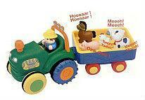 Фото Игрушки под заказ 1-3 дня Игрушка на колесах - ТРАКТОР С ТРЕЙЛЕРОМ (на колесах, свет, озвуч. укр. яз.) от Kiddieland - preschool - под заказ