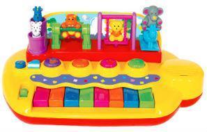 Фото Игрушки под заказ 1-3 дня Пианино - ЗВЕРЯТА НА КАЧЕЛЯХ (свет, звук) Kiddieland от Kiddieland - preschool - под заказ