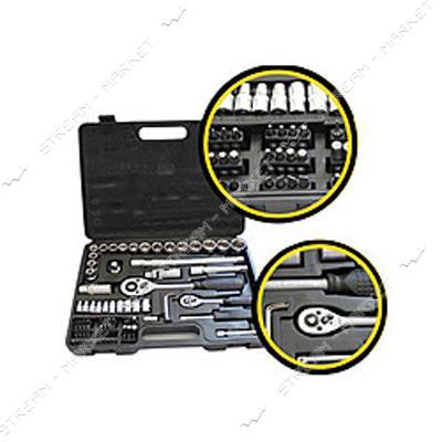 Набор инструмента HT-HERMES TOOLS (30-102) 1/4' и 1/2' Cr-V, 72 ед.