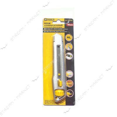 Нож универсальный HT-HERMES TOOLS (18-009) Al сплав, 18мм с винтовым фиксатором
