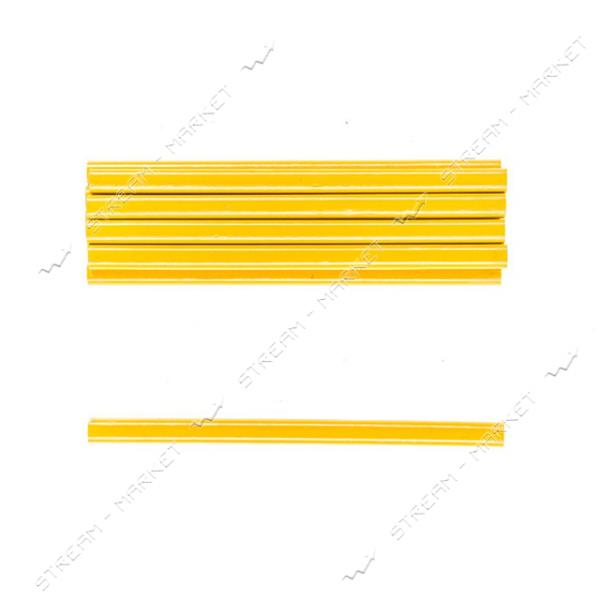 Комплект карандашей по стеклу H-TOOLS 14B802 желтые, овальные 175мм уп. 12 шт