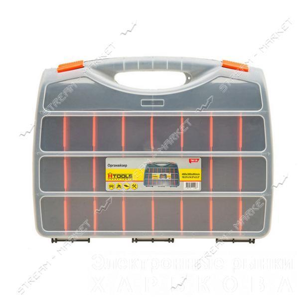 Органайзер H-TOOLS 79K128 21 отсек 19', (480*380*80мм) - Ящики, сумки инструментальные на рынке Барабашова