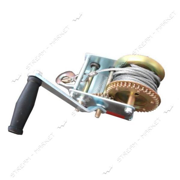 Лебедка рычажная барабанная INTERTOOL GT1455 стальной трос