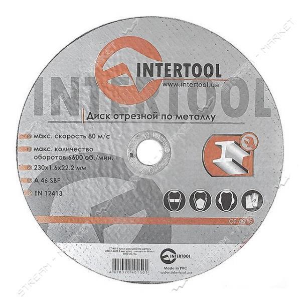 Круг отрезной по металлу INTERTOOL CT-4015 30*1.6*22.2мм