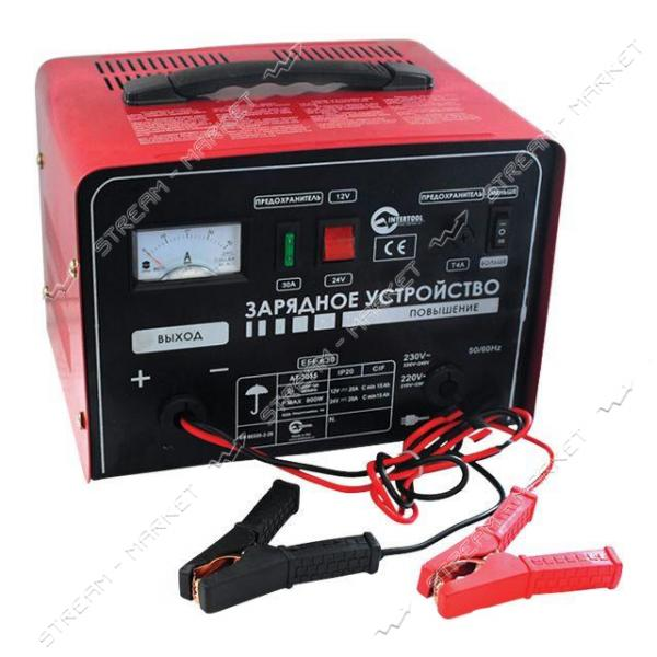 Зарядное устройство INTERTOOL AT-3015 12-24В, 600Вт, 230В, 14/20А